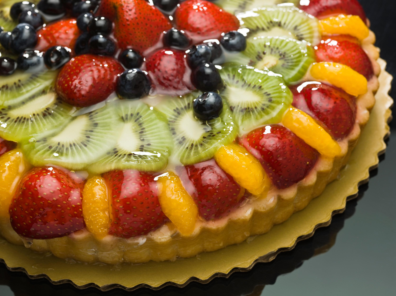 Сделать, открытка фруктовый торт